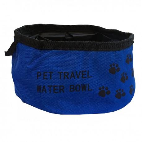 Ciotola LAKY in stoffa pieghevole e tascabile per acqua o cibo Blu