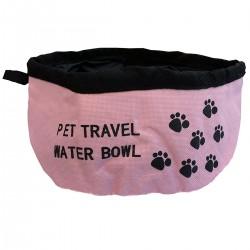 Pratica ciotola per cane, gatto LAKY in stoffa pieghevole e tascabile per acqua o cibo