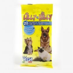 Lilly e Billy - Salviette Detergenti per Cani, Gatti ed Animali Domestici