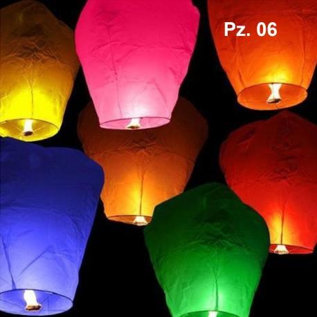 Lanterna Volante Cinese Conf. 6 -12 Pz Mongolfiera.