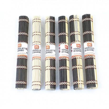 Set 6 Tovagliette per colazione in Bamboo 30 X 45 cm.