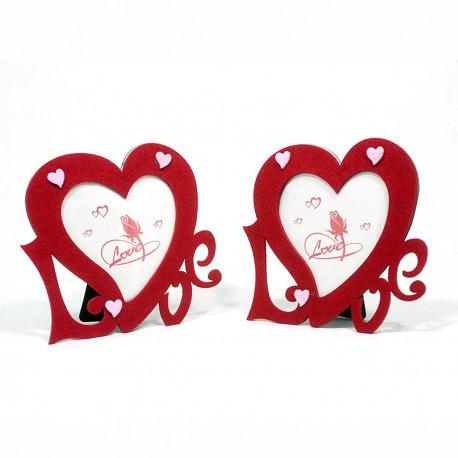 Cornice stoffa cuore portafoto da tavolo 10x10 cm conf 2 pz - Portafoto da tavolo 20x30 ...