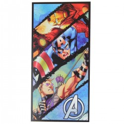 Beach towel Avengers, Captain America, Falco's Eye, Iron Man.