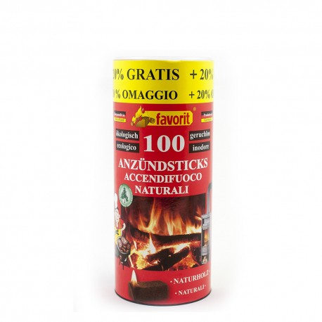 Природные зажигалки барбекю, печь, камин, Favorit Anzündsticks